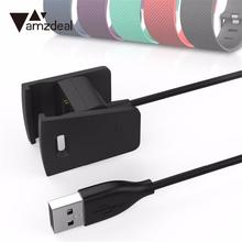 Amzdeal 58cm USB Charging Charger Cable Cord for Fitbit Charge 2 Bracelet Wristband Replacement Dock Adapter Black