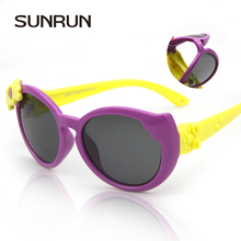 SUNRUN 2016 High Quality Baby Girls Brand Kids Sunglasses TR90 Polarized Children Glasses 100%UV Oculos De Sol Gafas S860(China)