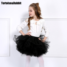 Girls 6 Layer Girl Skirt Fantastic Pettiskirt Tutu Extra Fluffy Maxi Cake Skirts Party Dance Wear Much More Fluffy Than Picture(China)