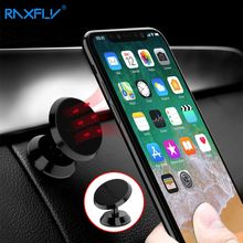 RAXFLY Universal Magnetic Phone Car Holder For iPhone 6 7 8 360 Rotation Magnet Suction Stand GPS Mobile Car Holder For Samsung(China)