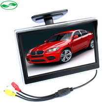 2 Ways Video Input 5 Inch TFT LCD Display 800 x 480 Definition Digital Panel Color Car Parking Monitor For Rear view Camera