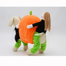 Creative Super Whimsy Funny Halloween Pumpkins Garment Four Feet Pumpkin Pet Dog Clothes New Qualified Hot sell Pet Dog Clothes