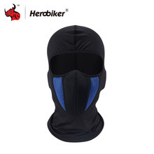 HEROBIKER Men's Motorcycle Full Face Mask Outdoor Motorcycle Helmet Hood Black Blue Gray Red Face Mask Motorcycle(China)