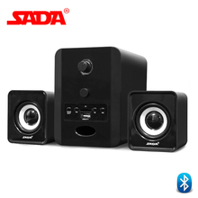 Original SADA D-223 Combination Speaker Bluetooth 2.1 Stereo Suitable Desktop Notebook Computer Speakers PC Laptop TF FM U disk