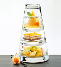 snack dish dessert bowl suits glass bowl  creative salad bowl new idea food plate sets keep fresh 4 layers kitchen accessory set
