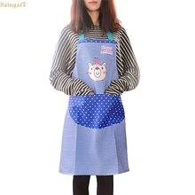Saingace Womens Kitchen Restaurant Bib Cooking Aprons with Pocket Apron quality first(China)