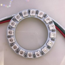 Addressable WS2812B pixel Ring 1 8 12 16 24 32 40 48 60 93 241 LEDs WS2812 SK6812 5050 RGB LED Ring WS2811 ic Built-in RGB  DC5V
