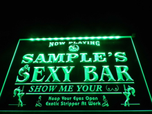 DZ041- Name Personalized Custom Sexy Bar Now Playing Stripper Bar Beer Neon Sign hang sign home decor crafts(China)