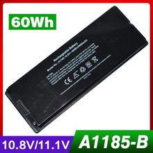 10.8V 60Wh Laptop battery for APPLE A1185 ASMB016 MA566 MA566FE/A MA566G/A MA566J/A mid-2009, for MacBook 5.2 A1181 MA472