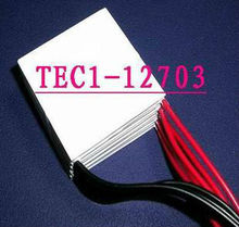 5PCS/LOT TEC1-12703 TEC Thermoelectric Cooler Peltier Cooling Plate Power Generator
