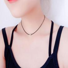xl830 Bohemia version of the simple fashion necklace creative love Heart leather cute girl street collarbone necklace(China)