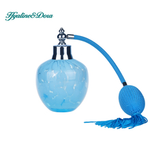 Blue Vintage Crystal Glass Perfume Bottle150ml Long Spray Atomizer Lady Gift Refillable Bottles Home Decoration