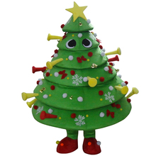 Real Pictures! Deluxe Christmas Tree Mascot Costume, Christmas Costume