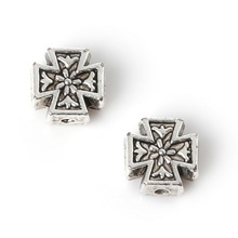 Hot Fashion 110pcs 8*8mm Zinc Alloy Charms Antique Silver Plated Wishes Cross Beads Jewelry Findings Fit Jewelry DIY