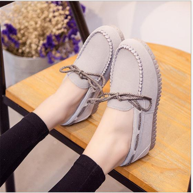 Top Quality Loafers Women Fashion Womens Flats Casual Brand Shoes Woman Soft Sole Suede Leather Shoes Plus Size 40 Free Shipping<br><br>Aliexpress
