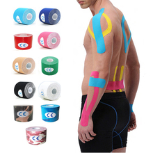 11 Color Kinesio Tape Muscle Bandage 5cm x 5M Sports Kinesiology Tape Roll Cotton Elastic Adhesive Strain Injury Muscle Sticker(China)