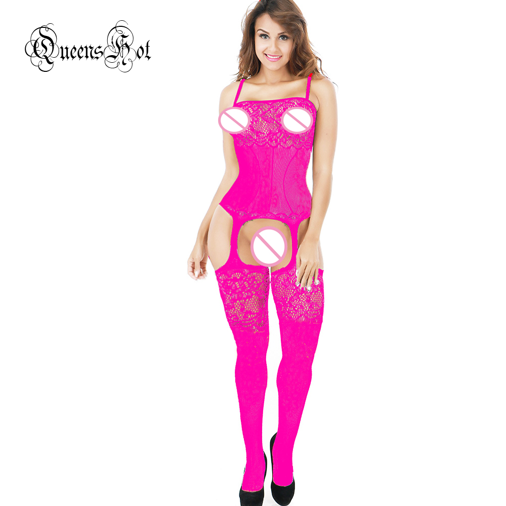 Women Lace Erotic Sexy Lingerie Babydoll Suspender Corset Basques Waistcoat Bodysuit Latex Catsuit Stocking Costumes + Eyemask 15