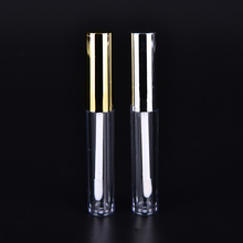 1PC 3.5ml Empty Lipstick Tube Lip Balm Bottle Container Gold/Silver Beauty Tool Mini Cosmetic Makeup Sample(China)
