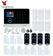 Yobang Security LCD Display WIFI Alarm System Wired Siren Kit RFID GSM SMS Alarm House intelligent DIY Burglar Security System(China)