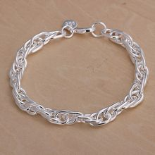 Free Shipping Wholesale 925 jewelry silver plated bracelet, 925 jewelry silver plated fashion jewelry Purple Bracelet H138