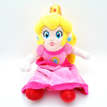 "New Nintendo Super Mario Bros Plush 9"" 23cm Sitting Princess Peach Plush Toys Doll Soft Stuffed Toys for Girls Gifts With Tag(China)"