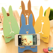 Cute Rabbit Paper Mobile Phone Holder Creative portable Phones Fixed Holder Simple Debris Storage Rack Home Supplies(China)