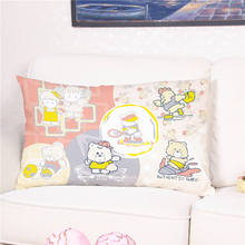 Cute Teddy Bear Chicken Printed Cushion Cover Multicolor Pillow Case for Sofa Bed Home Decoration 30*50cm Cojines Jardin(China)