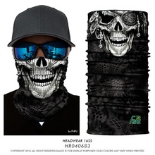 3D Seamless Bandanas Outdoors Multifunctional Headband Cycling Balaclava Jokers 3D Animal Skull Buffe Halloween Face Mask Scarf(China)