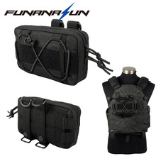 Tactical Vest Molle Pouch Compact EDC Waist Bag Military Airsoft Paintball Flashlight Mag Bag Pack for CS Hunting Camping
