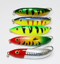 5Pcs Winter Ice Fishing Bait 10g 6.5cm Vertical Jigging Lure Fsihing Tackle(China)