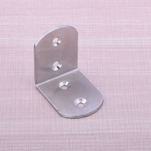 70Pcs/lot 50mm*50mm Stainless Steel 90 Degree Corner Brackets for Jewelry Box Feet DHL Free Shipping