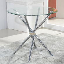 Black transparent glass dining table. Fashion negotiation table.(China)