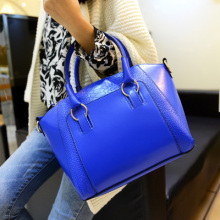 New 2015 Women Handbag Pu Leather Shoulder Bags  Sequined Decoration Crocodile Lines Shoulder Bag Ladies bolsa coruja