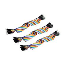Dupont line 60pcs 20cm male to male + male to female and female to female jumper wire Dupont cable for arduino