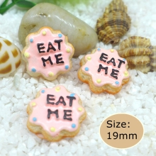 Kawaii  Eat me cake  flatback resin cabochon for phone deco  hair bow diy  Scrapbook Embellishment Free shipping