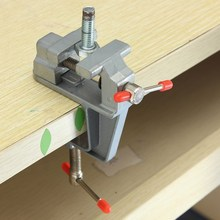 High Quality 35mm Aluminum MiniAture Small Jewelers Hobby Clamp On Table Bench Vise Tool Vice