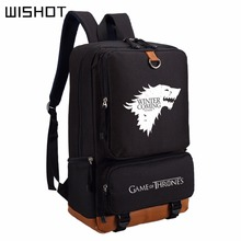 WISHOT  Game of Thrones Ice and Fire backpack for teenagers Men women's Student School Bags travel Shoulder Bag