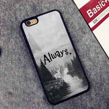 Harry Potter Always Printed Soft TPU Skin Mobile Phone Cases OEM For iPhone 6 6S Plus 7 7 Plus 5 5S 5C SE 4 4S Back Cover Shell