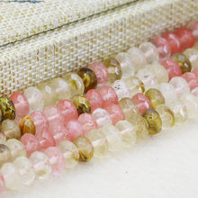 5X8mm Multicolor Watermelon Tourmaline Abacus Beads Ornaments Crafts Loose Beads Stone Faceted Gems Fashion Jewelry Making