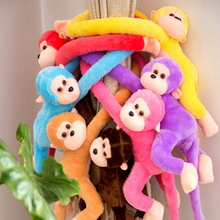 60CM Kawaii Long Arm Tail Monkey Stuffed Doll Plush Toys Curtains Baby Sleeping Appease Animal Doll Birthday Christmas Gifts D35(China)