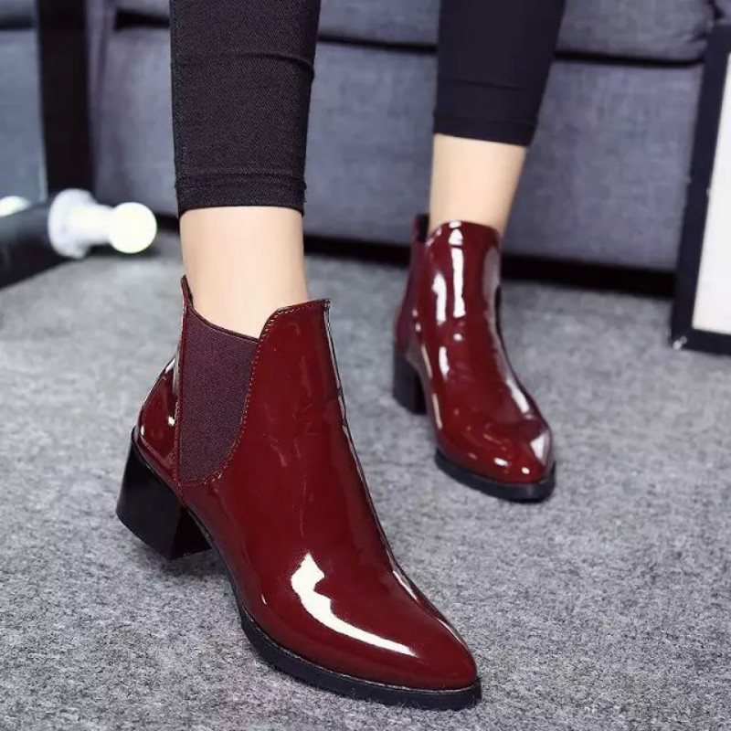 High quality boots size 35-39 motorcycle chelsea  black  Martin boots shoes zapatos mujer ankle boots rain snow warm WA67W<br><br>Aliexpress