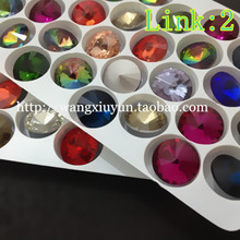 Link : 2 More Colors  8mm/10mm/12mm/14mm/16mm/18mm Top Quality  Round Rivoli Crystal Fancy Stone Beads