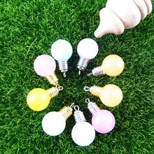 Wholesale 10pcs/pack Mix Colorful Fancy Light Bulb Charms Jewelry Findings Hot Charms Pendants Lot Bracelet Necklace 51387