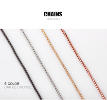 10pcs/lot Free Shipping Top Quality Silver Box Chain Necklace With Lobster Clasps Jewelry Necklack For Women