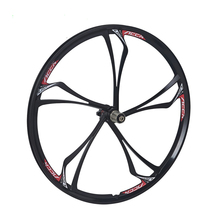 Bicycle one piece wheel accrue knife magnesium alloy 26 mountain bike bearing one piece wheel(China)