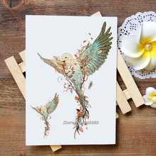 Waterproof Temporary Tattoo Sticker bird tattoo Water Transfer Flash Tattoo fake tattoo for women men kids #461(China)