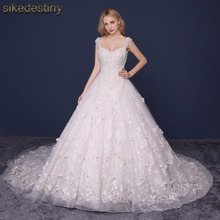 Sikedestiny Custom Made Wedding Dresses Elegent High-end Beautiful Lace Ball Gown Lace Bridal Dresses Wedding Gowns