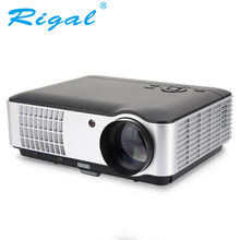 Home Theater Projector Rigal RD-806A 1080P Full HD LED TV Video Games Beamer Cinema Proyector Projetor with 5.8 In Display