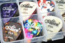 30pcs Alice Pearl Celluloid Acoustic Electric Guitar Picks Plectrums+1 Plastic Picks Box Case 6 Thickness Free Shipping