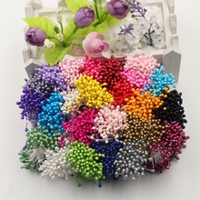 1 Bundle=300PCS Artificial Flower Double Heads Stamen Pearlized For Craft Cards Cakes Decoration Floral DIY Wreath Accessories(China)